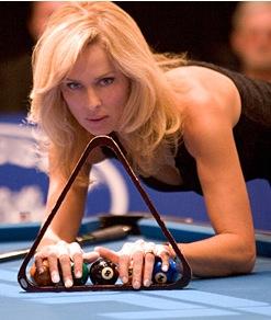 the striking viking pool player