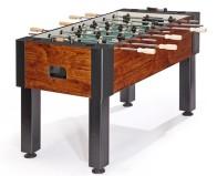 wooden foosball table