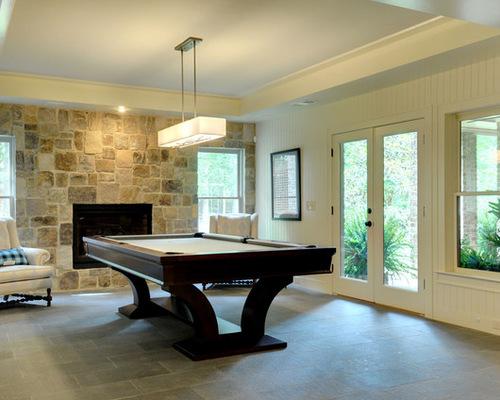 See How A Basement Game Room Blends Into An Atlanta Backyard